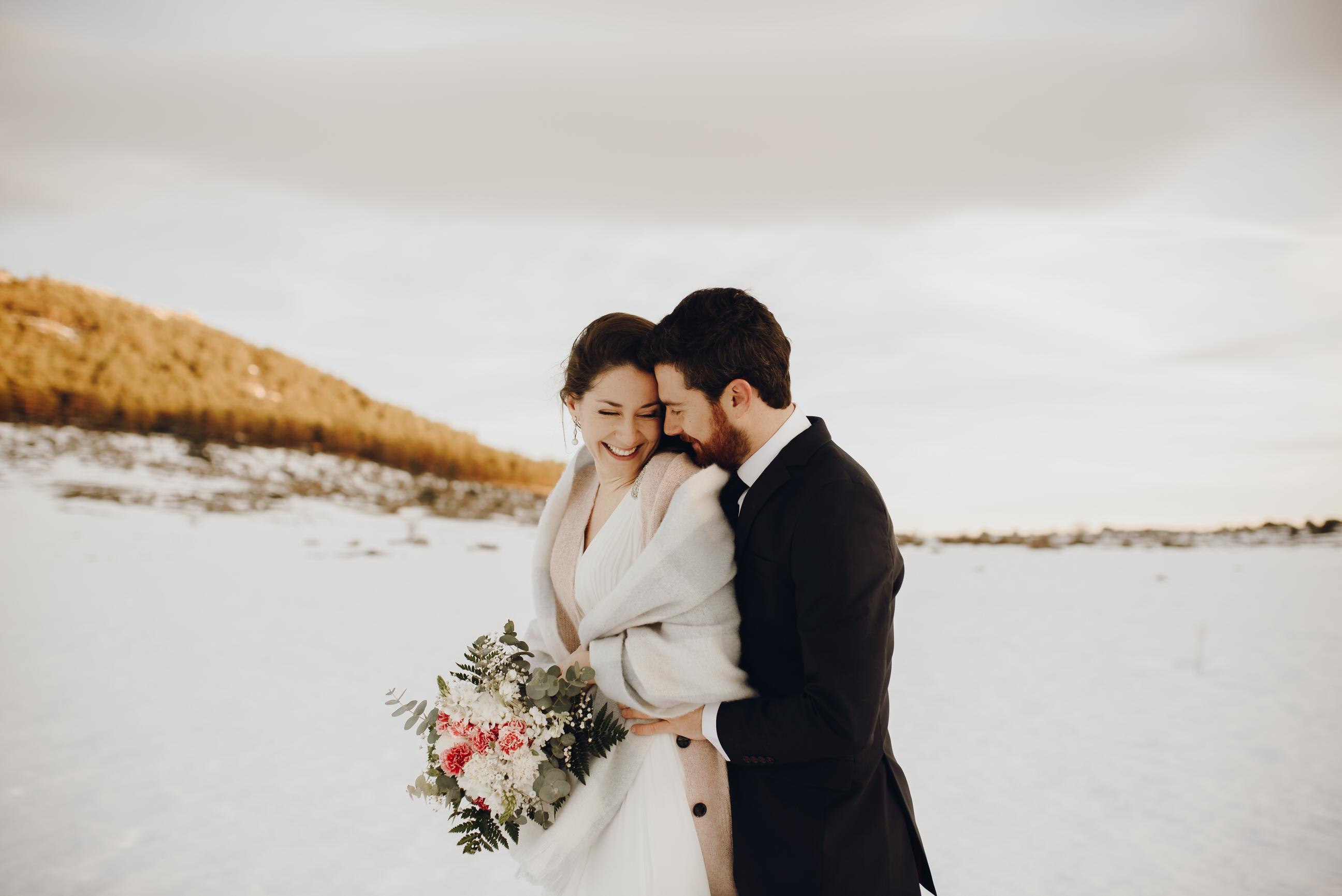 fotos boda nieve
